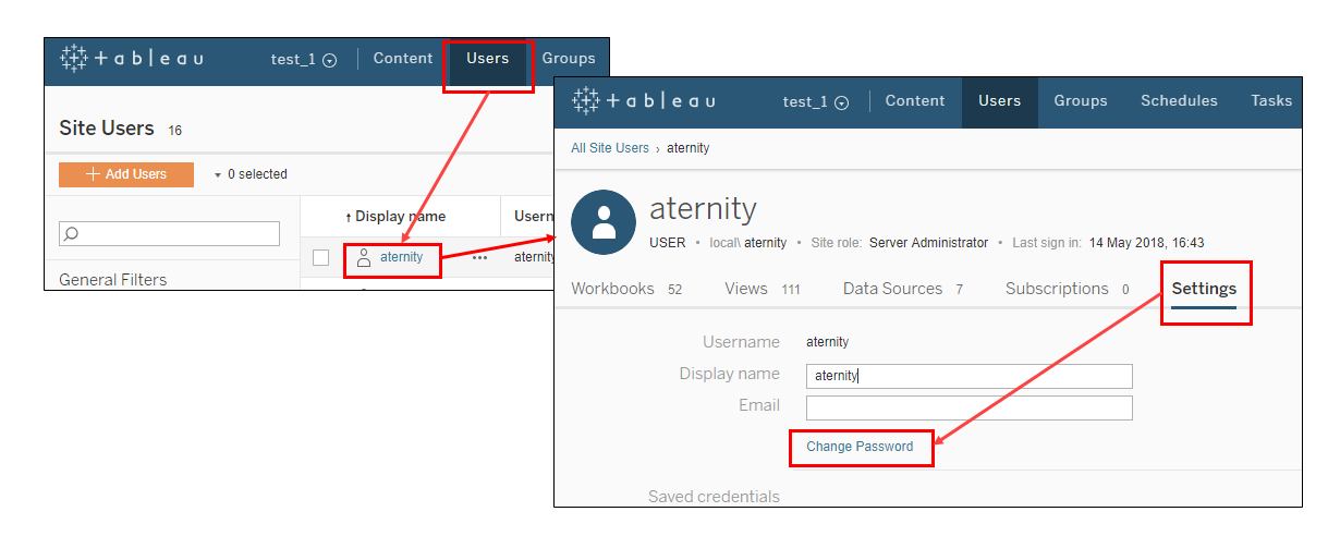 Update Passwords in your Aternity on-premise Deployment