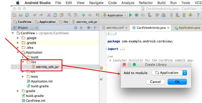 Integrate and Initialize the Aternity Android SDK into your App